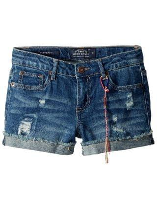 KIDS Lucky Brand Kids - Ronnie Stretch Cuffed Shorts in Ada (Big Kids)