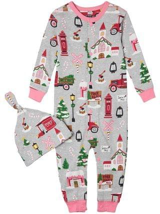 KIDS Little Blue House by Hatley Kids - Christmas Village Coverall (Infant)