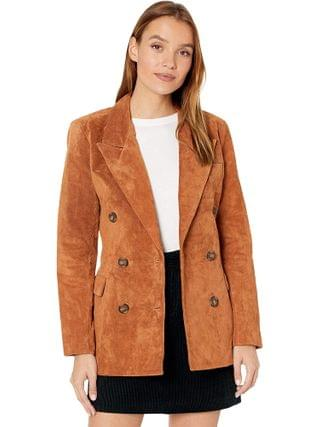 WOMEN Blank NYC - Real Suede Double Breasted Blazer