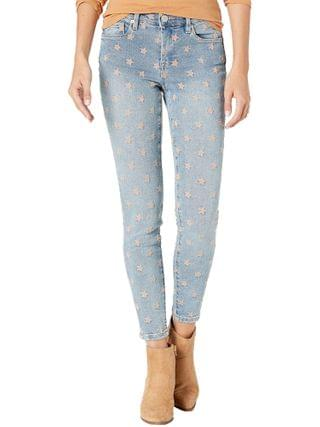 WOMEN Blank NYC - The Bond Mid-Rise Star Embroidered Denim Skinny Jeans in Ever After