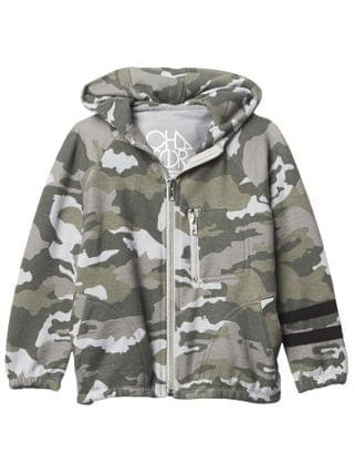 KIDS Chaser Kids - Love Knit Long Sleeve Zip-Up Hoodie w/ Strappings (Toddler/Little Kids)