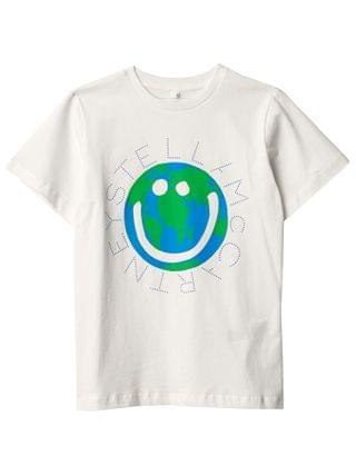 KIDS Stella McCartney Kids - Short Sleeve Planet Logo Tee (Toddler/Little Kids/Big Kids)