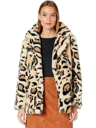 WOMEN Blank NYC - Faux Fur Leopard Print Jacket