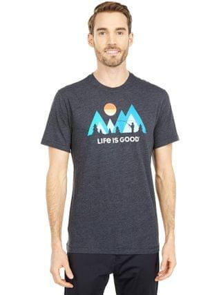 MEN Life is Good - Sunset Fly Fishing Cool Tee
