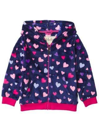 KIDS Hatley Kids - Confetti Hearts Fuzzy Hooded Jacket (Toddler/Little Kids/Big Kids)