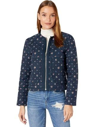 WOMEN Blank NYC - Collarless Floral Quilted Jacket