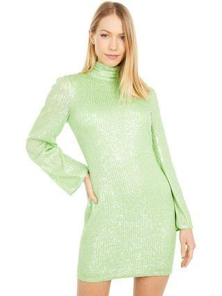 WOMEN ONE33 Social - High Neck Solid Long Sleeve Sequin Party Dress