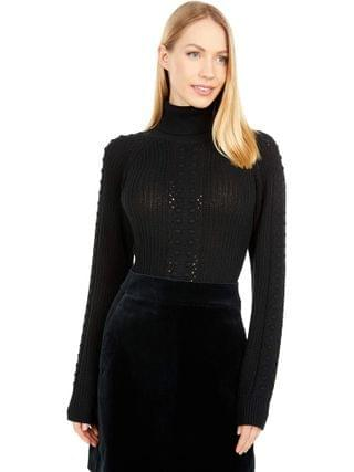 WOMEN Only Hearts - Three Times A Lady Sweater Turtleneck Bodysuit