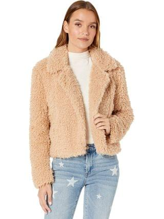 WOMEN Blank NYC - Curly Hair Faux Fur Cropped Jacket