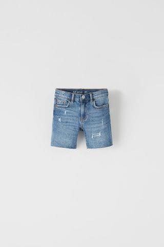 KIDS VINTAGE SLIM FIT DENIM SHORTS
