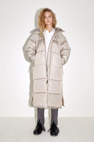 WOMEN EXTRA LONG WATER REPELLENT PUFFER COAT