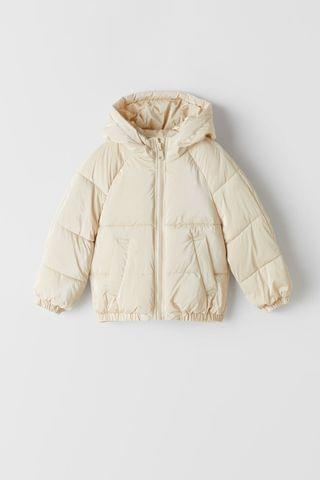 KIDS PIPED TRIM PUFFER COAT