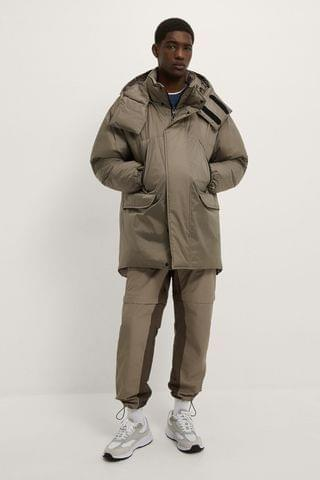 MEN PADDED PARKA WITH HOOD