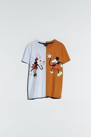 WOMEN MINNIE AND MICKEY MOUSE DISNEY T-SHIRT TRF