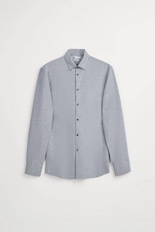 MEN EASY CARE TEXTURED SHIRT