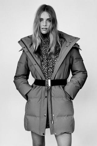 WOMEN WATER AND WIND PROTECTION LONG DOWN COAT