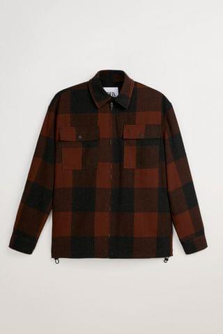 MEN PLAID PUFFER JACKET