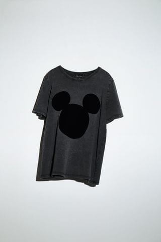WOMEN MICKEY MOUSE DISNEY WASHED EFFECT T-SHIRT