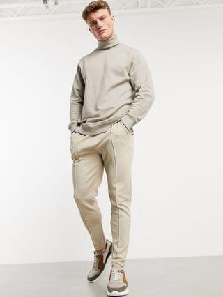 New Look sweatshirt with turtle neck in stone