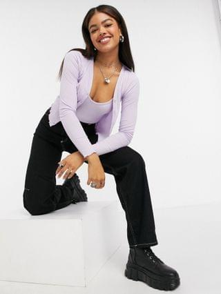 WOMEN New Look cardigan and cami twin set in lilac