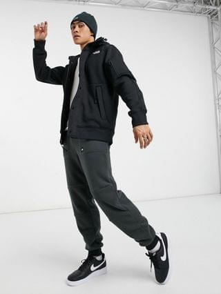 The North Face Highrail fleece jacket in black