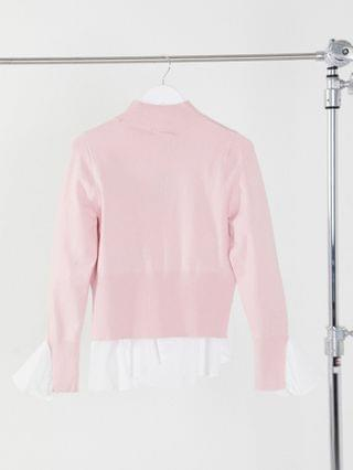 WOMEN New Look Tall 2 in 1 sweater with undershirt detail in light pink