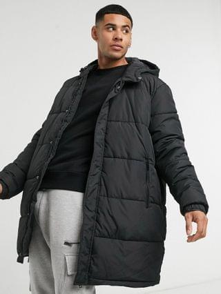 New Look long line black puffer jacket