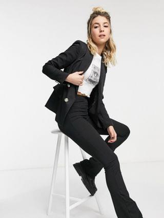WOMEN New Look double breasted button detail blazer in black