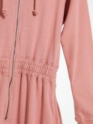 WOMEN Missguided Petite hooded jumpsuit in blush