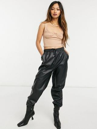 WOMEN Fashion Union crop top with ruched bust set