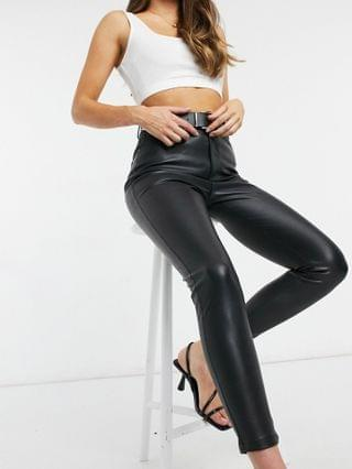 WOMEN Ever New pu high waisted pants in black