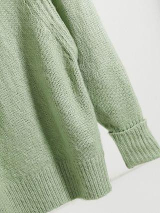 WOMEN Petite oversized sweater in brushed knit in sage