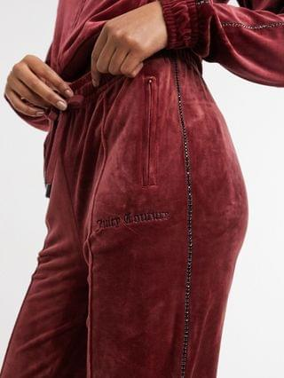 WOMEN Juicy Couture coordinating velour tracksuit pants with rhinestone details