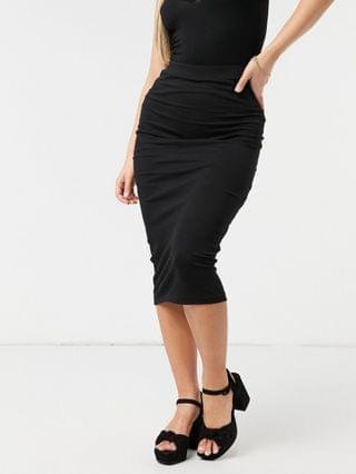 WOMEN Outrageous Fortune exclusive midi body-conscious skirt in black