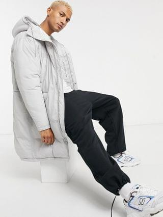 puffer parka jacket in gray