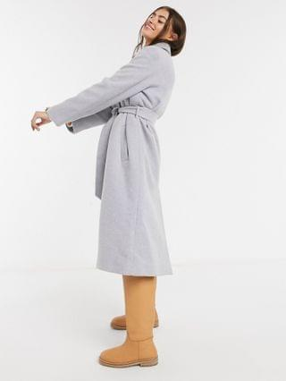 WOMEN & Other Stories recycled wool blend longline jacket coat in pale blue