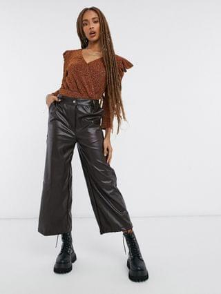 WOMEN Moon River ruched sparkle top in rust