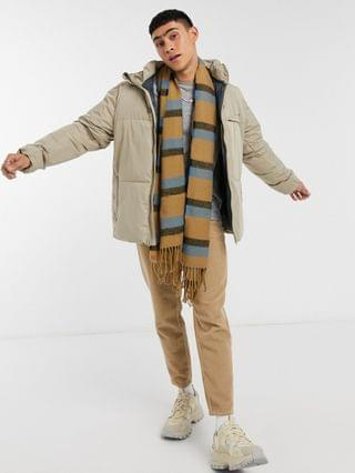 Pull&Bear puffer jacket in stone
