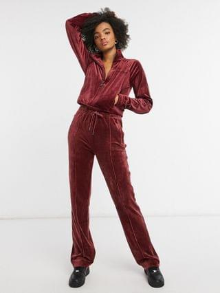 WOMEN Juicy Couture coordinating velour tracksuit top with rhinestone details