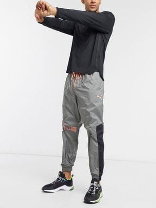 Puma Training woven track pants in gray