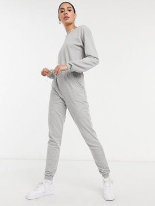 WOMEN tall basic sweatshirt sweatpants jumpsuit in gray