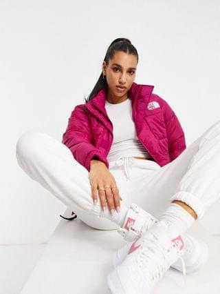 WOMEN The North Face Synth City puffer jacket in pink