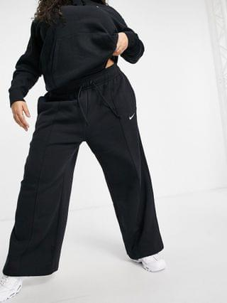WOMEN Nike Plus Trend Fleece loose fit sweatpants in black