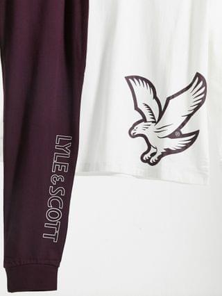 Lyle & Scott long sleeve top and lounge pant set