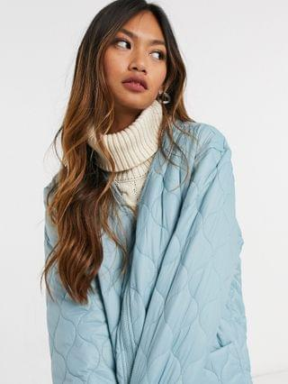 WOMEN Native Youth oversized long line coat in quilting