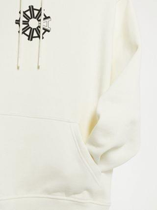 Arcminute back print hoodie in off white