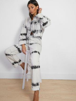 WOMEN Missguided co-ord riot mom jeans in stone tie-dye