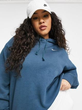 WOMEN Nike Plus Trend Fleece oversized hoodie in blue