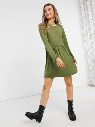 WOMEN Wednesday's Girl long sleeve mini smock dress