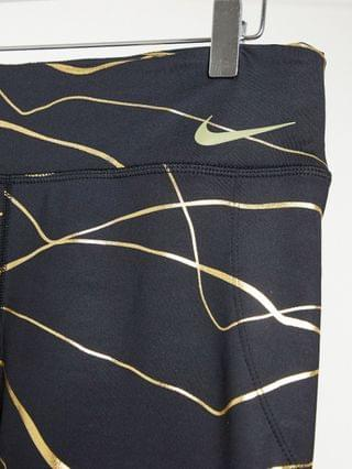 WOMEN Nike Running Icon Clash Fast Tight leggings in black and gold